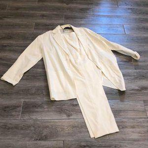 Donna Karan New York white pant suit
